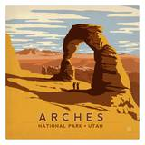 Arches National Park, Utah Square Art by  Anderson Design Group