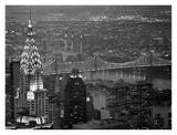 Chrysler Building and Queensboro Bridge Art by Murat Taner