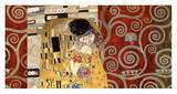 The Kiss (pewter montage) Poster par Gustav Klimt