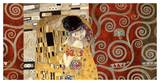 The Kiss (pewter montage) Posters van Gustav Klimt