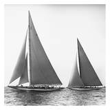 Edwin Levick - Sailboats in the America's Cup, 1934 - Reprodüksiyon