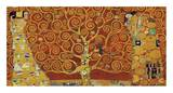 Tree of Life (red variation) Poster av Gustav Klimt