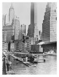 Airplane Landing in Manhattan, 1935 Print