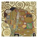 The Embrace (detail) Art by Gustav Klimt