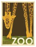 Zoo Giraffe Posters by  Anderson Design Group