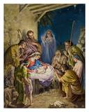 The Adoration of the Shepherds Prints by J.A Mohlte