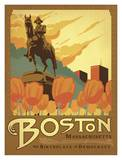 Boston, The Birthplace of Democracy Print by  Anderson Design Group