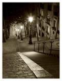 Montmartre, Paris Affiche par Vadim Ratsenskiy