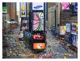 Times Square and Advertising Signs Print by José Fuste Raga