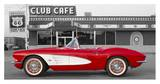 1961 Chevrolet Corvette at Club Cafe on Route 66 Reprodukce