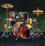 Drum Set Prints by Elli &amp; John Milan