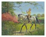 Girl on Horseback in Spring Poster by Peter Stevens