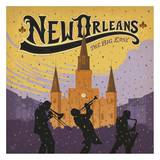 New Orleans, The Big Easy Square Posters by  Anderson Design Group