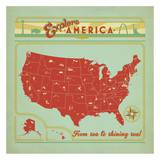 Explore America Square Prints by  Anderson Design Group