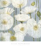 Weiße Mohnblumen Kunstdrucke von Elise Remender