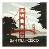 San Francisco Golden Gate Bridge Square Pôsters por Anderson Design Group