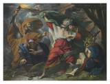 King Lear, Act III, Scene IV, Lear in the storm Print by Benjamin West