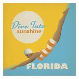 Dive into Sunshine Florida Square Prints by  Anderson Design Group