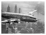 Vol d'un avion au dessus de la ville, 1946 Art