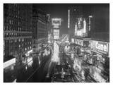 Rainy Night in Times Square, NYC 1952 Kunstdrucke