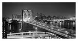 Brooklyn Bridge at Night Poster by Philip Gendreau