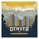 Denver The Mile High City Square Prints by  Anderson Design Group