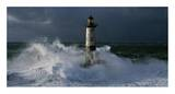 Phare d&#39;Ar-Men lors d&#39;une tempete Prints by Jean Guichard