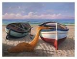 Barche sulla spiaggia Poster by Adriano Galasso