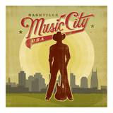 Music City Square Poster van Anderson Design Group