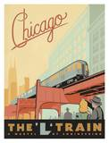 Chicago, the &quot;L&quot; Train Poster by  Anderson Design Group