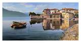 Paese sul lago Prints by Adriano Galasso