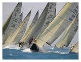 Sailing Race Prints by Sharon Green