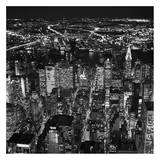 Night aerial view of midtown Manhattan Lminas por Cameron Davidson