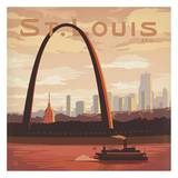 St Louis Gateway to the West Square Prints by  Anderson Design Group