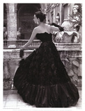 Black Evening Dress, Roma 1952 Posters van Genevieve Naylor