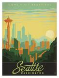 Seattle Pster por Anderson Design Group