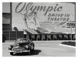 Olympic Drive-in Theater Print by Kurt Hutton