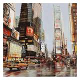 Taxi in Times Square Prints by John B. Mannarini