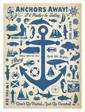 Anchor Pattern Affiches par  Anderson Design Group