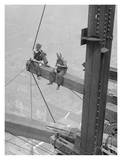 Workers Sitting on Steel Beam, 1926 Print