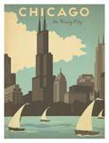 Chicago, The Windy City Affiches par  Anderson Design Group