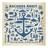 Anchor Pattern Square Posters by  Anderson Design Group