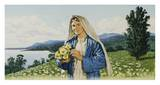 Mary Queen of the Missions Prints by John Walter