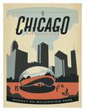 Chicago The Cloud Gate Posters by  Anderson Design Group