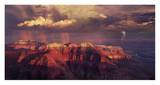 Sunset Thunderstorm at Grand Canyon Print by Bill Ross