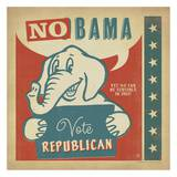 NoBama Square Print by  Anderson Design Group