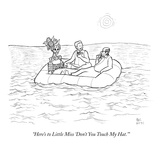 """""""Here's to Little Miss 'Don't You Touch My Hat.'"""" - New Yorker Cartoon Premium Giclee Print by Paul Noth"""