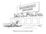 """Neither the time nor the place, Doug!"" - New Yorker Cartoon Premium Giclee Print by Jack Ziegler"