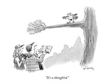 """It's a thongbird."" - New Yorker Cartoon Premium Giclee Print by Mike Twohy"