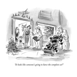 """""""It looks like someone's going to have the complete set!"""" - New Yorker Cartoon Premium Giclee Print by Lee Lorenz"""